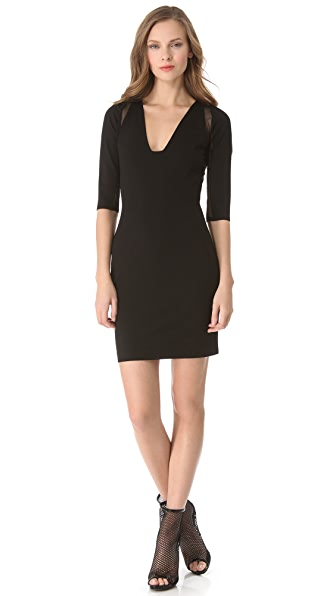 Mason by Michelle Mason Plunge Neck Dress