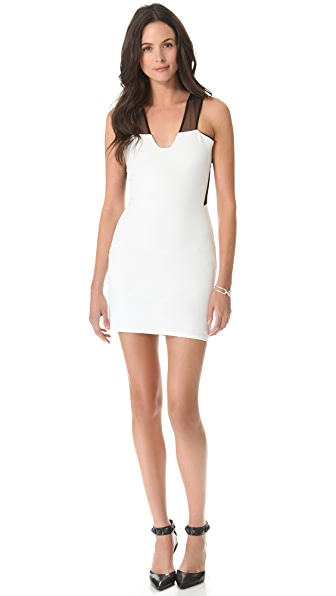 Mason by Michelle Mason Plunge Neck Dress with Insets