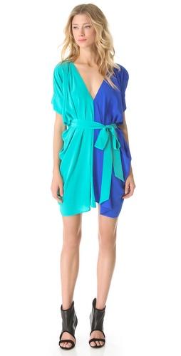 Mason by Michelle Mason Colorblock Belted Dress