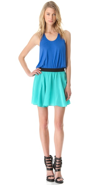 Mason by Michelle Mason Colorblock Tank Dress