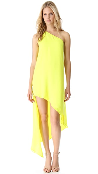 Mason by Michelle Mason Asymmetrical Shift Dress