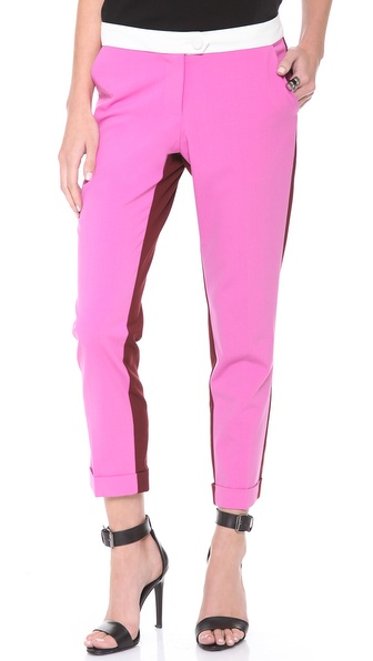 Mason by Michelle Mason Contrast Slim Trousers