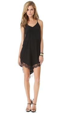 Mason by Michelle Mason Cami Dress with Lace Trim