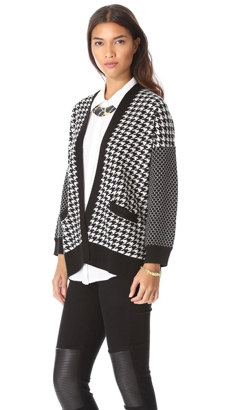 Mason by Michelle Mason Houndstooth Cardigan