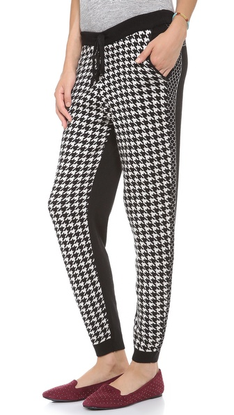 Mason by Michelle Mason Houndstooth Sweatpants