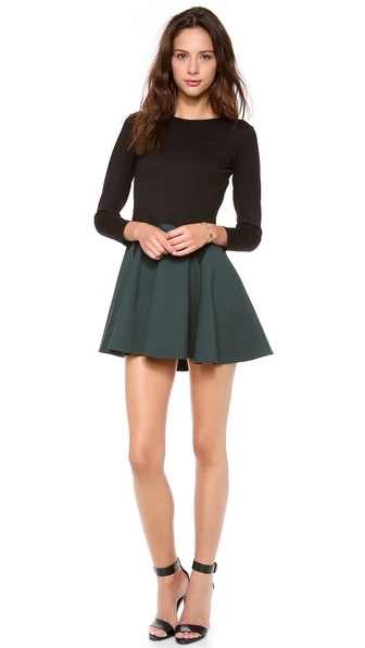 Mason by Michelle Mason Long Sleeve Flare Dress