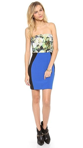 Mason by Michelle Mason Bustier Combo Dress