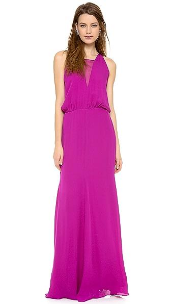 Mason by Michelle Mason Chiffon Inset Gown