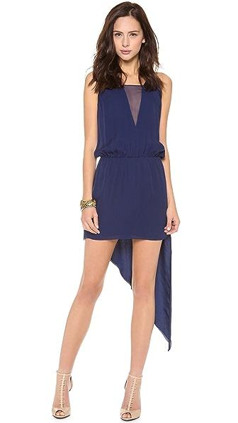 Mason by Michelle Mason Asymmetrical Cami Dress