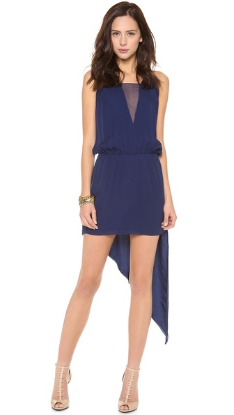 Mason by Michelle Mason Asymmetrical Cami Dress