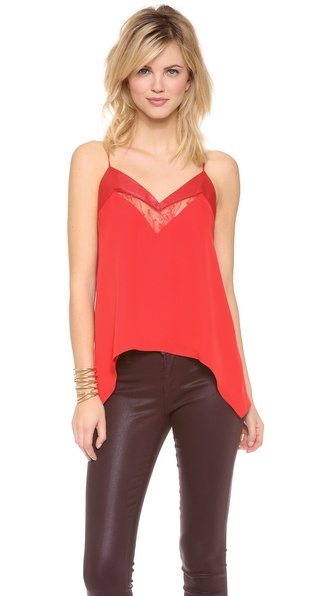 Mason by Michelle Mason Leather & Lace Cami