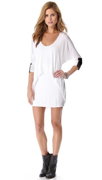 Mason by Michelle Mason Leather Cuff Dolman Dress