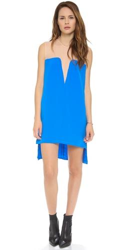 Mason by Michelle Mason Two Tone Shift Dress