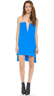 Mason by Michelle Mason Two Tone Shift Dress