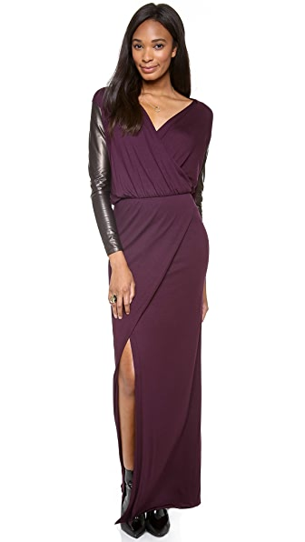 Mason by Michelle Mason Long Sleeve Wrap Gown