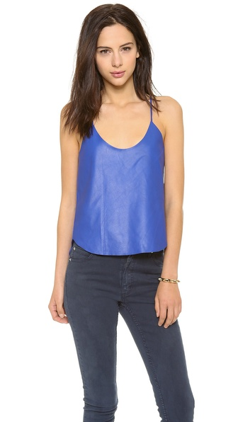 Mason by Michelle Mason Leather Tank