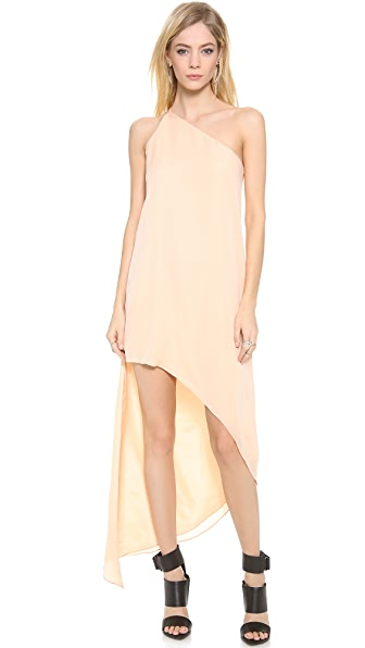 Mason by Michelle Mason Asymmetrical One Shoulder Maxi Dress
