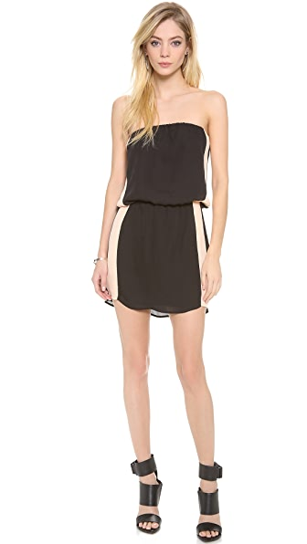 Mason by Michelle Mason Contrast Strapless Dress