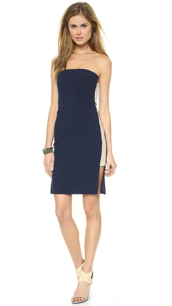 Mason by Michelle Mason Strapless Dress with Side Insets