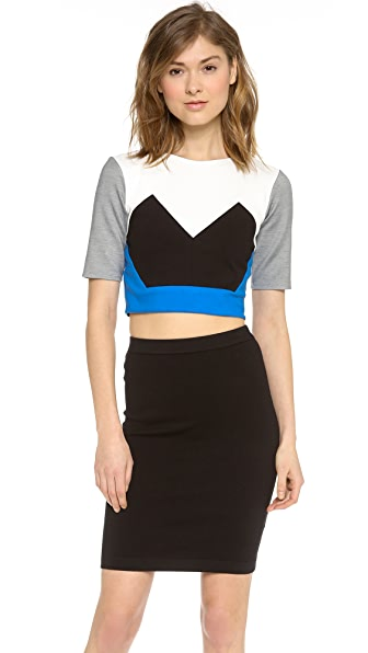 Mason by Michelle Mason Cropped Jersey Top
