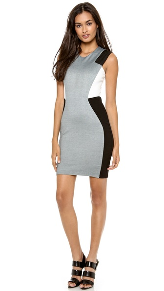 Mason by Michelle Mason Combo Tank Dress