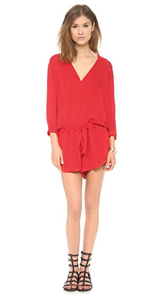 Mason by Michelle Mason Long Sleeve Romper