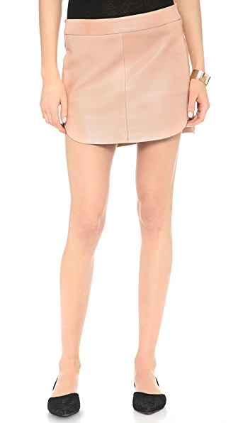 Mason by Michelle Mason Mini Leather Skirt