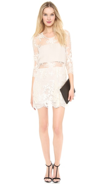 Mason by Michelle Mason Mini Lace Dress