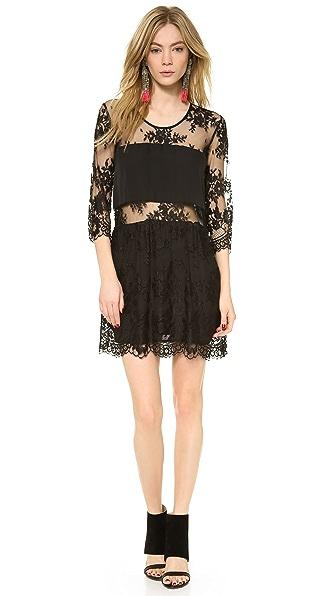 Mason by Michelle Mason Mini Lace Dress