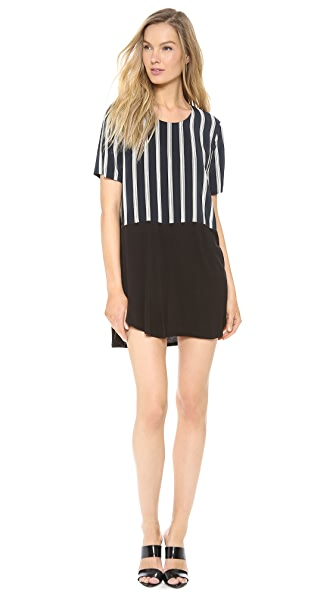 Mason by Michelle Mason Silk Front Tee Dress