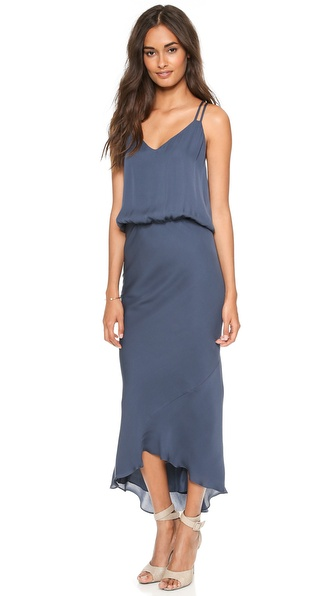 Mason by Michelle Mason Double Strap Bias Maxi Dress