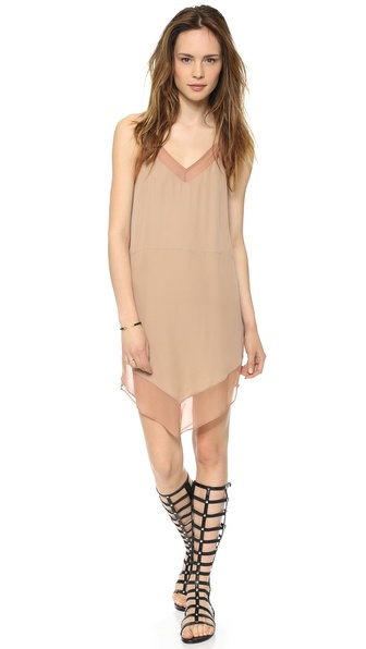 Mason by Michelle Mason Cami Dress with Chiffon Trim