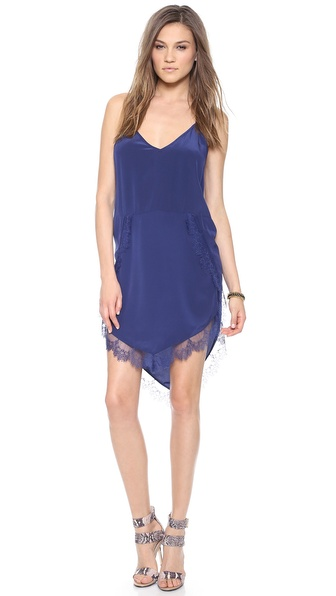 Mason by Michelle Mason Lace Trim Slip Dress