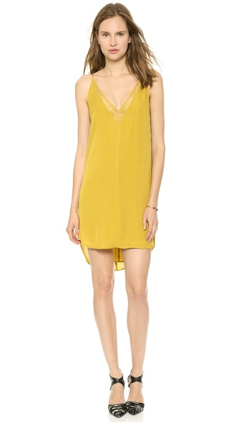 Mason by Michelle Mason Slip Dress with Lace