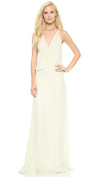 Mason by Michelle Mason Cami Wrap Gown