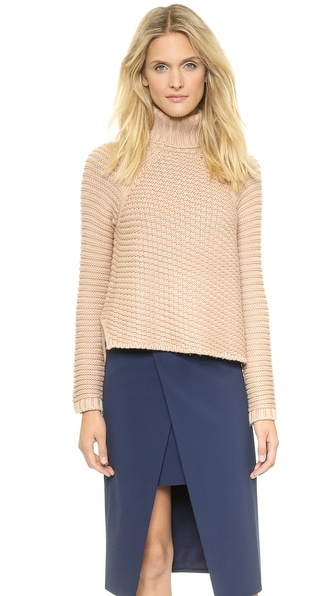 Mason By Michelle Mason Turtleneck Sweater - Nude
