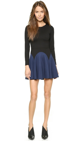 Mason by Michelle Mason Long Sleeve Flare Dress