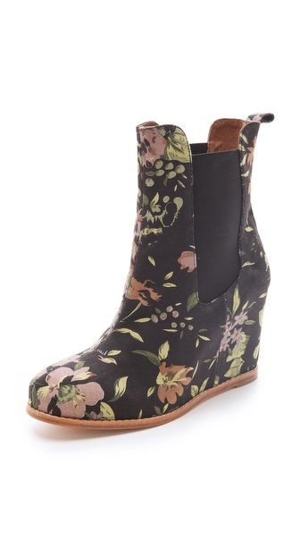 Matiko Kain Floral Wedge Booties