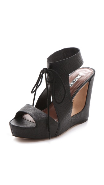 Matiko Elena Cutout Wedge Sandals