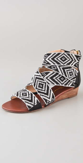 Matt Bernson Delphine Beaded Wedge Sandals