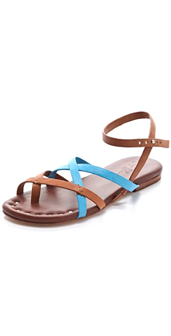 Matt Bernson Jack Two Tone Strappy Flat Sandals