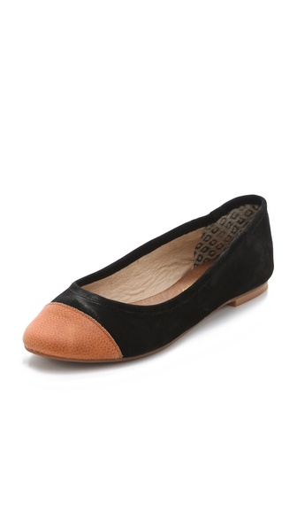 Matt Bernson Mulberry Two Tone Cap Toe Flats