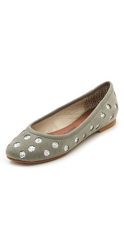 Kupi Matt Bernson cipele online i raspordaja za kupiti A collaboration between Stripes & Sequins and Matt Bernson. Glitter-infused, laser-cut polka dots lend a playful feel to classic nubuck ballet flats. Rubber sole.  Leather: Cowhide. Imported, China. This item cannot be gift-boxed. - Grey/Silver Glitter