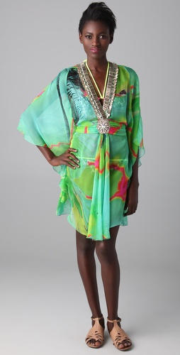 Matthew Williamson Escape Glamour Short Caftan