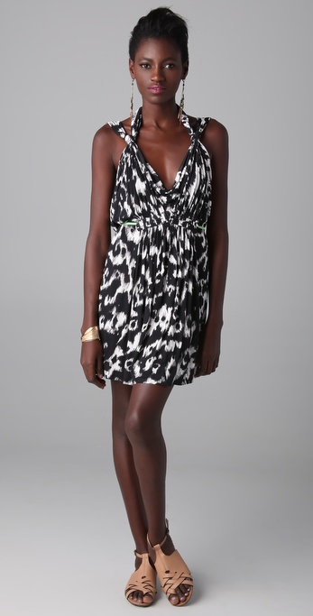 Matthew Williamson Escape Leopard Cowl Back Dress