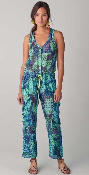 Matthew Williamson Escape Leopard Papillon Jumpsuit