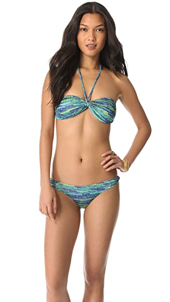 Matthew Williamson Escape Fleck Print Bandeau Bikini Set