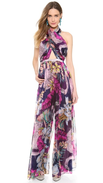 Matthew Williamson Escape Wrap Front Jumpsuit