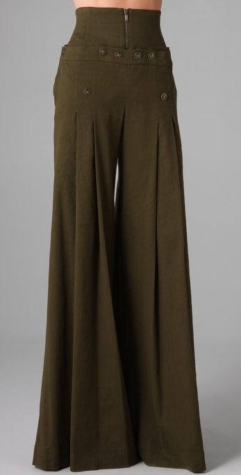 Matthew Williamson High Waisted Sailor Pants