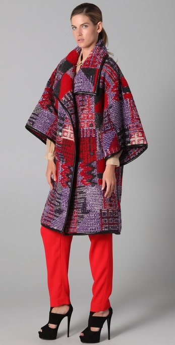 Matthew Williamson Biker Blanket Wrap Coat